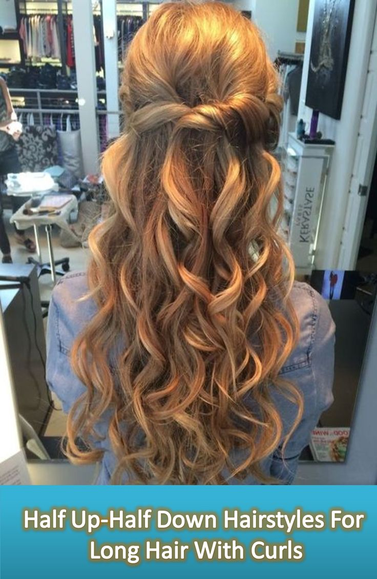 Half Up Half Down Hairstyles For Long Hair For Your Curly