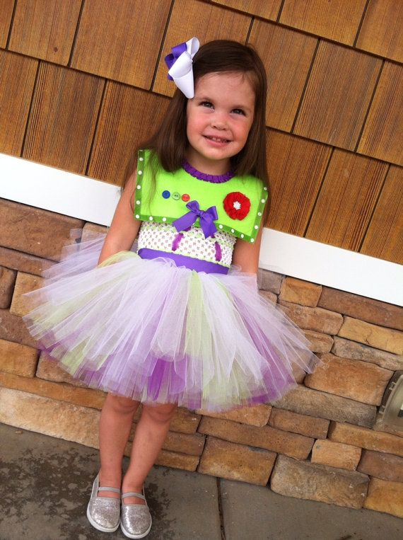 Buzz Lightyear Girls Halloween Costume Tutu Dress