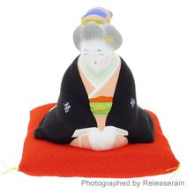 Kyoto Ceramic Traditional Japanese Otafuku Fortune Lady Doll S Made in Japan