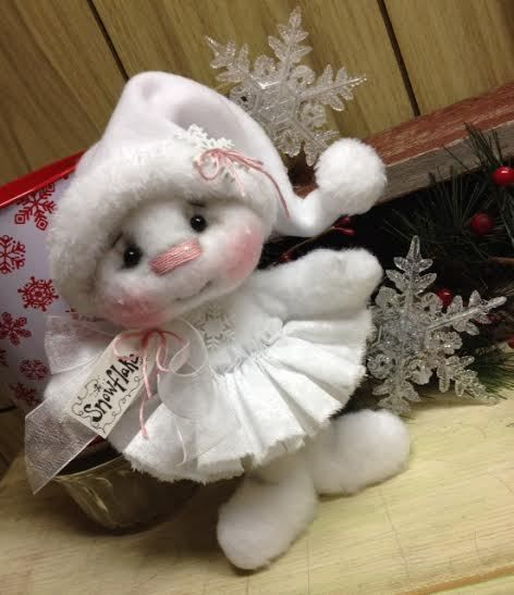 Primitive Raggedy Christmas Snowman Doll Snow **Special Order for BABYTULA** #Unbranded #Christmas