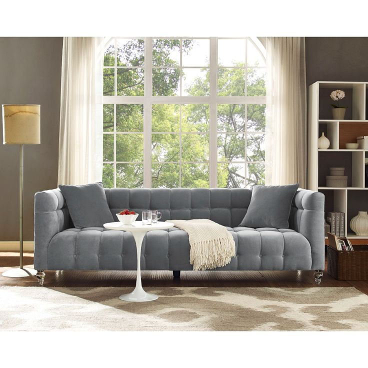 Bea Sofa Grey Kiln dried solid