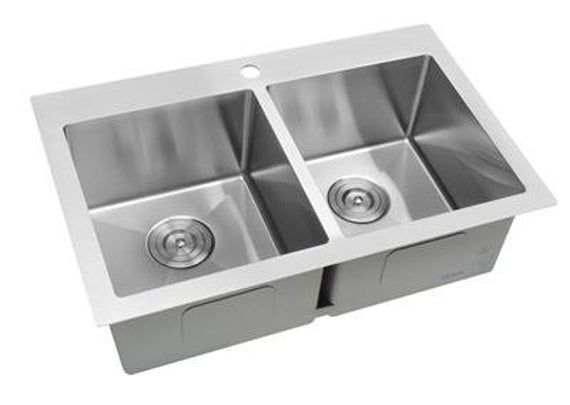 Deep 30 Double Bowl Top Mount Drop In Stainless Steel Kitchen