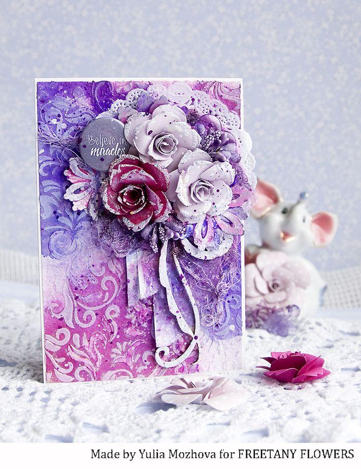 Сиреневые открытки скрапбукинг