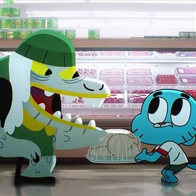 ¡Pánico en el supermercado! ^__^ #Gumball