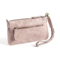 FIE Dusty Rose  Cute and handy small clutch in strong PU leather, includes a pocket for coins and a cardholder and leaves room for your phone or keys as well.