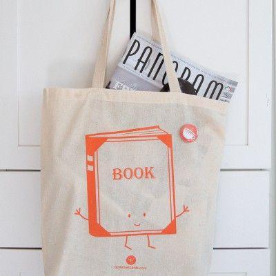 book tote bag by queeniescards.com
