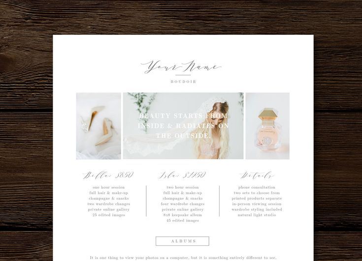 Boutique price list template. Boudoir Photographer Pricing Guide Template - Aspen