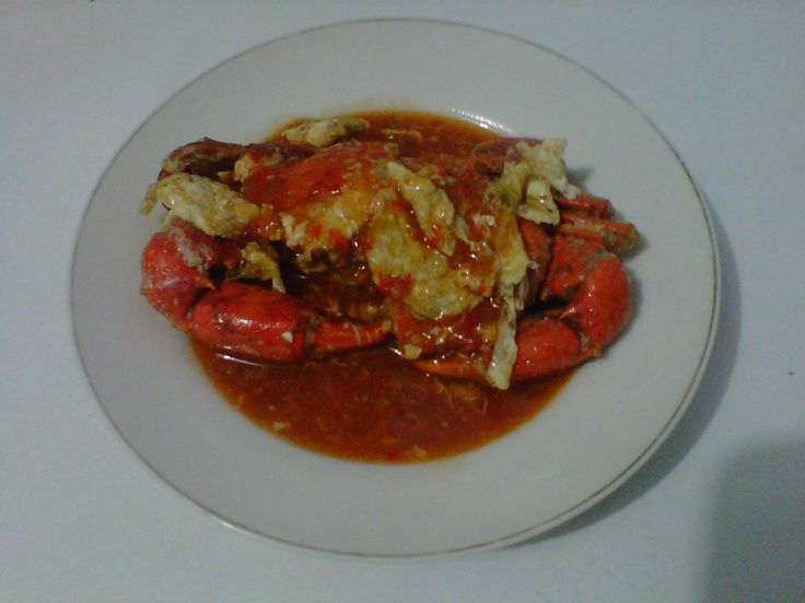 Singapore chili crab.