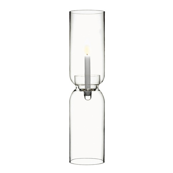 Harri Koskinen design for Iittala. Clear Lantern with a match holder to facilitate the lighting and snuffing of the candle.