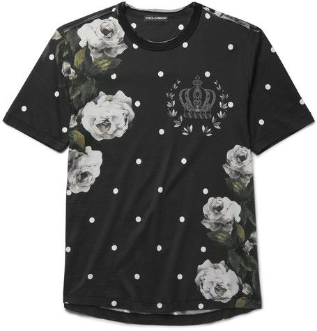 Raw-Edge Printed Cotton-Jersey T-Shirt | MR PORTER - that should be mine!
