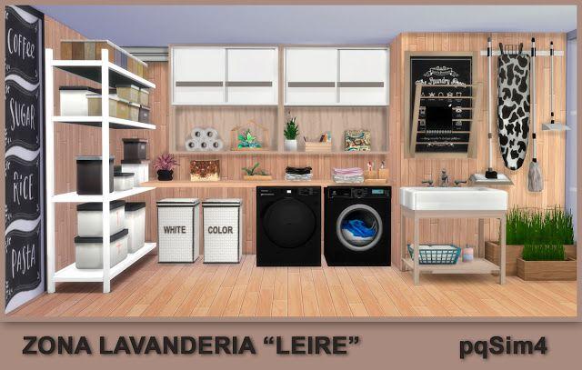 "Zona Lavandería ""Leire"". Sims 4 Custom Content. ~ pqSim4"