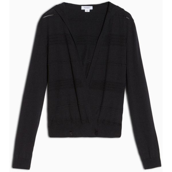 MAX&Co. Cardigan with openwork stripes (€86) ❤ liked on Polyvore featuring tops, cardigans, midnight blue, striped top, striped cardigan, stripe cardigan, hooded cardigan and knit top