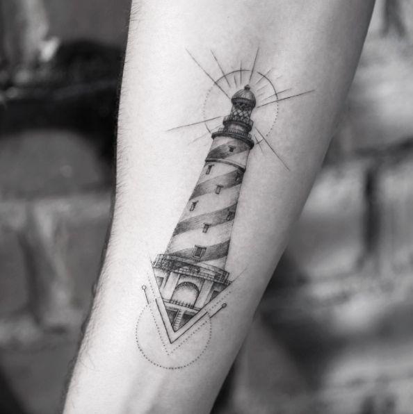 Lighthouse Tattoo Design by Sanghyuk Ko