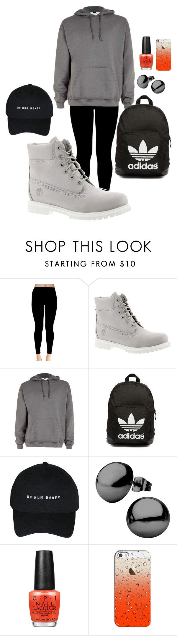 """Airport-Fashion (Jungkook Style)"" by parkjimminie ❤ liked on Polyvore featuring Timberland, adidas Originals, OPI and Casetify"
