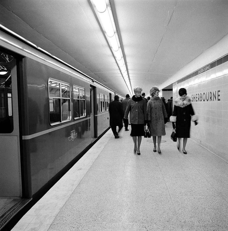 Sherbourne Subway Station, Toronto, 1966