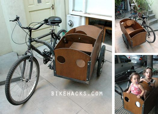 Bicycle Sidecar. Hook this thing to a vintage cruiser, and it is ON!