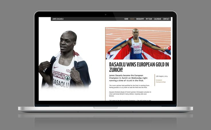 JAMES DASAOLU: We work with Great Britain sprint sensation James Dasaolu on his online profile. Designing his official website and produced signature cards, as well as developing an online strategy to grow his brand. Check him out: http://jamesdasaolu.co.uk/  ARTICLE: http://5or6.co.uk/projects/james-dasaolu/