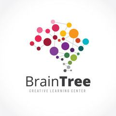 Creative idea logo,Brain logo,learning logo,education logo,mine and human logo design,vector logo template