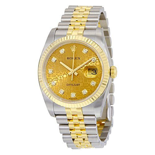 Rolex Datejust Automatic Champagne Dial Stainless Steel and 18kt Yellow Gold Mens Watch 116233CJDJ