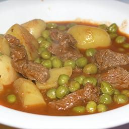 Croatian Lamb/Beef Stew with Green Peas on BigOven: This stew is much better if using lamb, but it is also nice with beef. The procedure is the same for both meats. Instead of potato you can use flour noodles, but they have to be small.