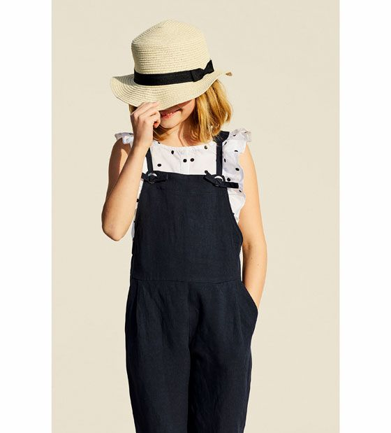 Image 1 of KNOTTED STRAP DUNGAREES from Zara