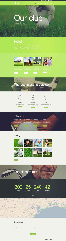 Golf Muse Template #58498 http://www.templatemonster.com/adobe-muse-template/58498.html #sport #clubs