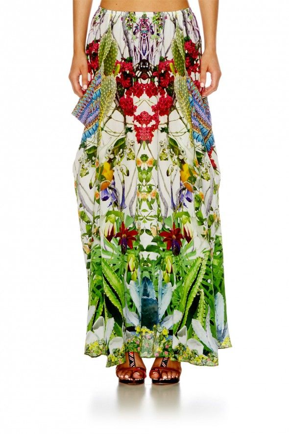 EXOTIC HYPNOTIC POCKET SKIRT DRESS