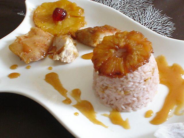 Sült csirke karamellizált ananásszal és teában párolt rizzsel Recept képpel - Mindmegette.hu - Receptek