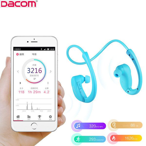 ==> [Free Shipping] Buy Best DACOM Ostrich Smart Pedometer Sport Light Sweat-proof Wireless Bluetooth Headphone Stereo Earphone fone de ouvido Auriculares Online with LOWEST Price | 32734635391