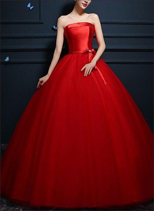 Rotes Ballkleid - Prinzessin