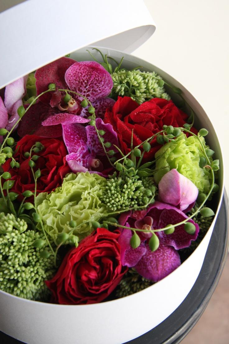 flower box : vanda,rose,eustoma