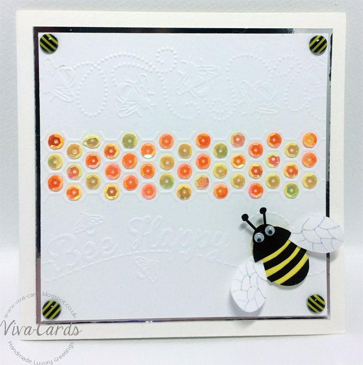 """Handmade Card - """"Bee Happy!""""   #Bee, #Bumblebee,"""