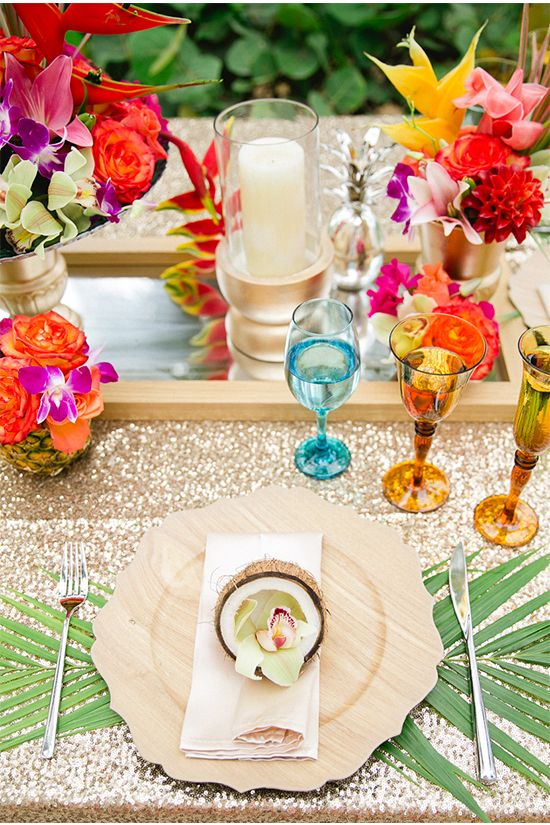 Tropical Pink and Gold Wedding Ideas & 85 best Tropical Wedding Ideas images on Pinterest | Tropical ...