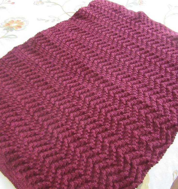 Attractive Zigzag Knitting Pattern Gift - Easy Scarf Knitting ...