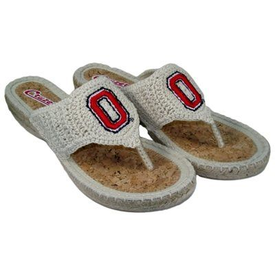 Ohio State Buckeyes Women's Pre-Game Flip Flops