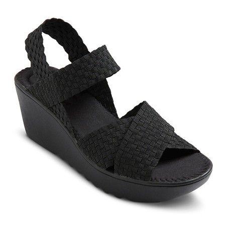 be8f2e47ff2f Women s Soho Cobbler Alyson Woven Elastic Comfort Wedge Sandals ...