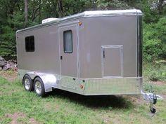 Image result for Enclosed Cargo Trailer Camper Conversion