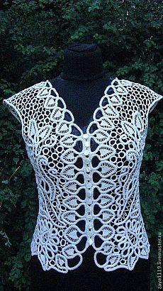 Crochet blusa & quot; El verano brisa & quot;.