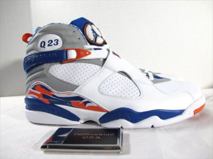 db3aca9a65e Quentin Richardson wearing Air Jordan VIII 8 New York Knicks Home PE (2)