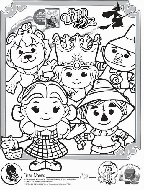 wizard of oz commercial and to download coloring pages and activity