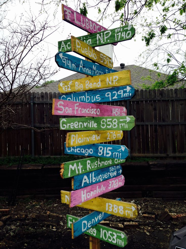 My Tropical Directional Sign Made From Old Fence Panels