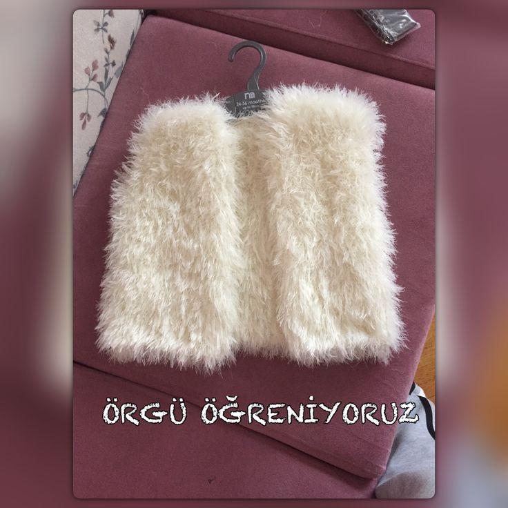Fur vest knitting Örgü kürk yelek