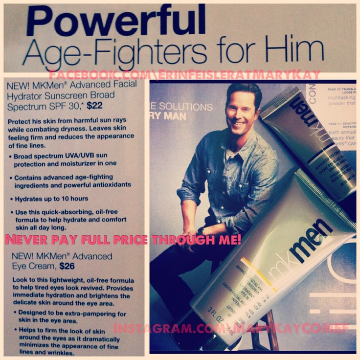 New Mary Kay products for men! Contact me for yours and never worry about the state of your skin again! www.marykay.com/michelea18