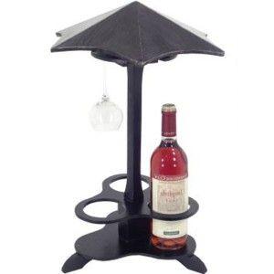 Stojan na víno a poháre - slnečník
