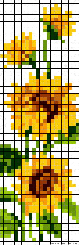 pretty sunflowers pattern