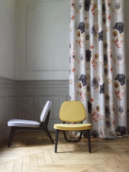 Chairs: Used here to show fabric by Sonia Rykiel, but who designed the chairs? Rue - Visconti