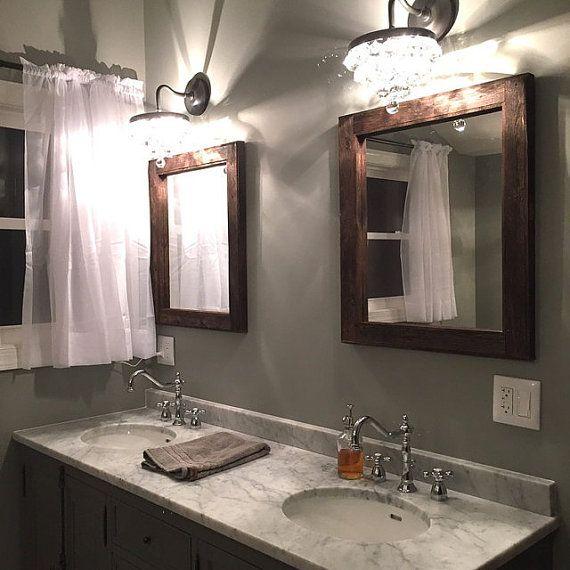 Best 25 wood mirror ideas on pinterest mirrors full - Double sink bathroom decorating ideas ...
