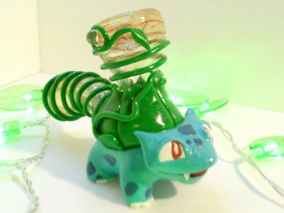 Custom Bulbsaur Pipe Nintendo Smoking by JimwillieMiniatures, $134.99