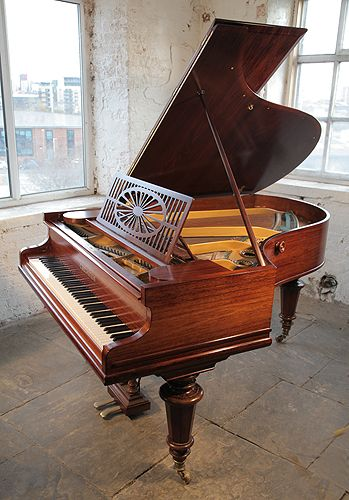 An antique, 1904,Bechstein Model A grand piano with a polished, rosewood case and turned legs atBesbrode Pianos £8000. Piano has an eighty-five note keyboard and a two-pedal lyre