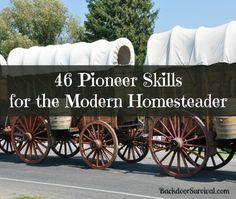 46 Pioneer Skills for the Homesteader